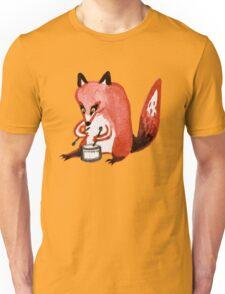 Drumming Fox Unisex T-Shirt