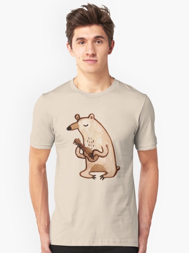 Ukulele Bear Unisex T-Shirt Front