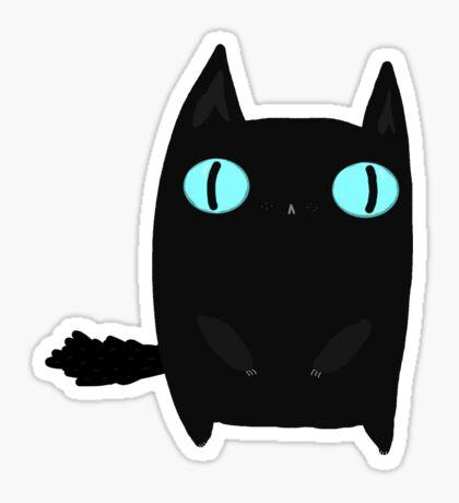 Fat Black Cat Sticker