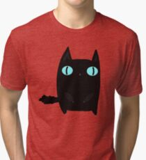 Fat Black Cat Tri-blend T-Shirt