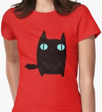 Fat Black Cat Women's Fitted T-Shirt
