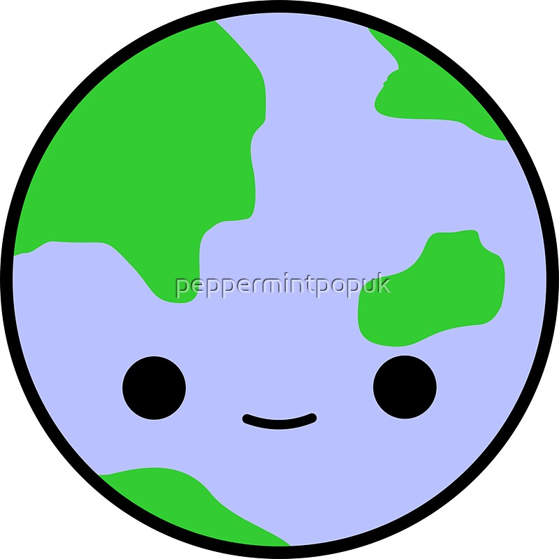 """""""Cute earth and stars"""" Stickers by peppermintpopuk 