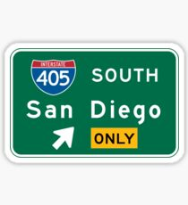 San Diego, CA Road Sign, USA Sticker