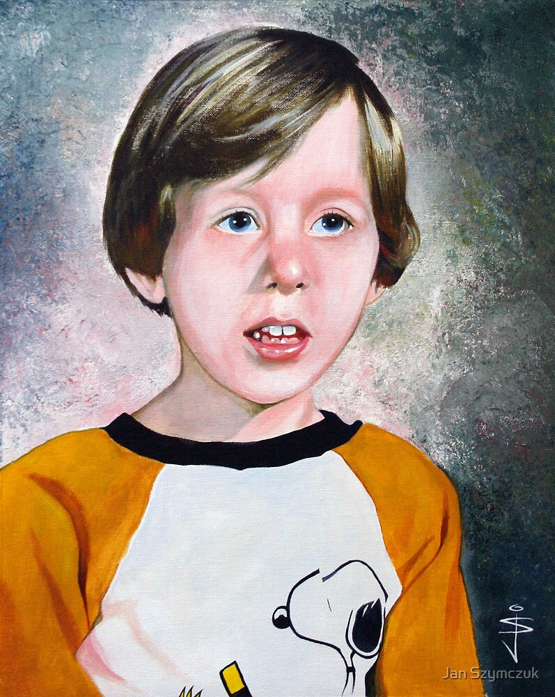 Portrait of a boy by Jan Szymczuk
