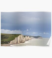 Seven Sisters Cliffs  sussex UK Poster