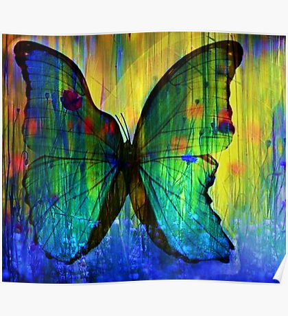 Happiness Is Like A Butterfly Poster