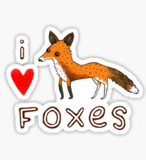 Fox Love Sticker