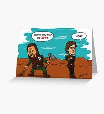 Theon does not sow Greeting Card