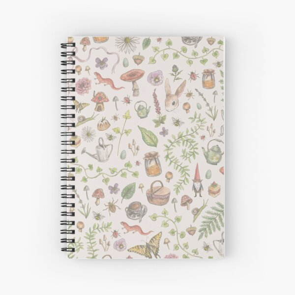 Cottagecore - faded pink Spiral Notebook