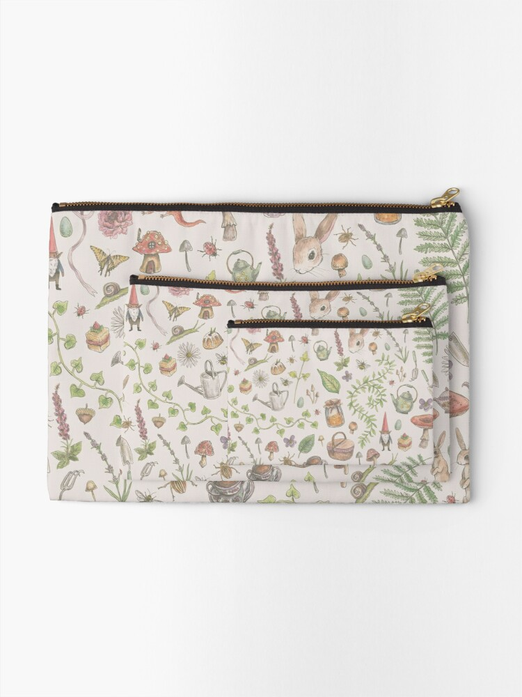 Alternate view of Cottagecore - faded pink Zipper Pouch