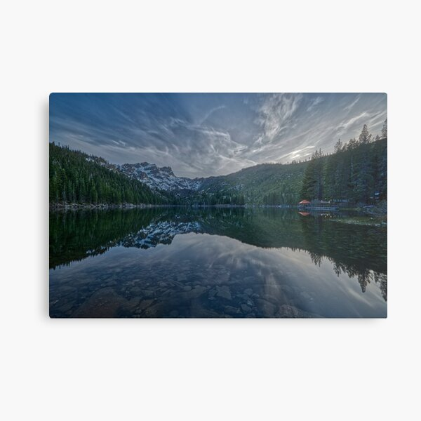 Sun has set, the day coming to a close. Metal Print