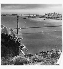 Historic Ship Parade - 75th Anniversary of the Golden Gate Bridge Poster