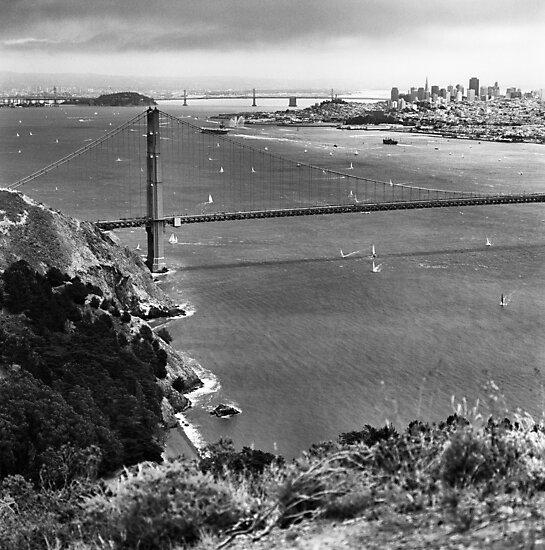Historic Ship Parade - 75th Anniversary of the Golden Gate Bridge by Rodney Johnson
