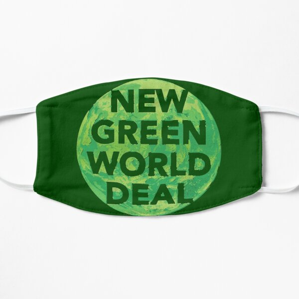 New Green World Deal - grüner Flache Maske
