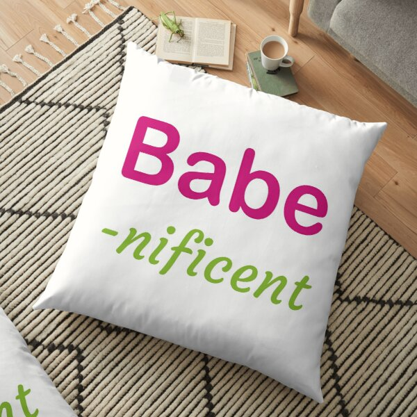 Babe-nificent Floor Pillow