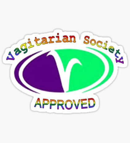 Vagitarian Society: Approved Sticker