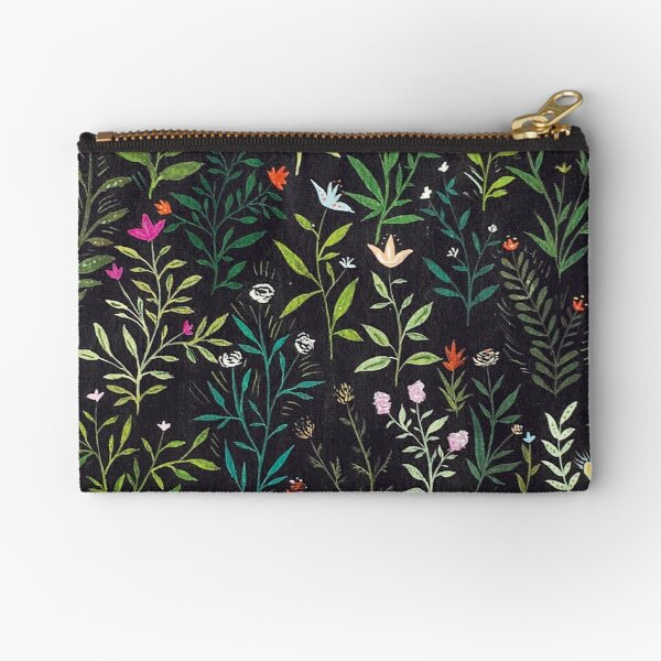 Midnight Garden Zipper Pouch