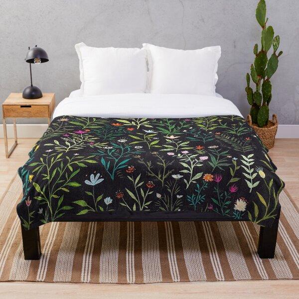 Midnight Garden Throw Blanket