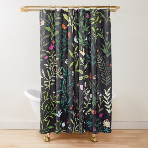 Midnight Garden Shower Curtain