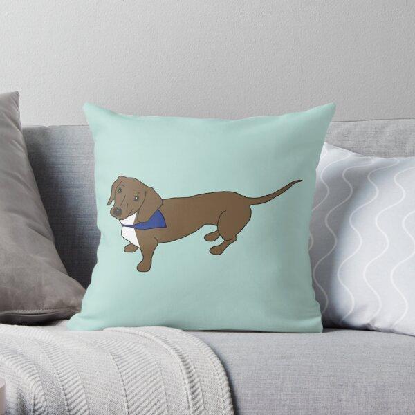 Bandana Dog Throw Pillow