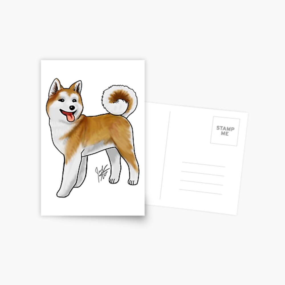 Akita Postcard