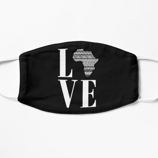 Love Africa Love Black History Flat Mask