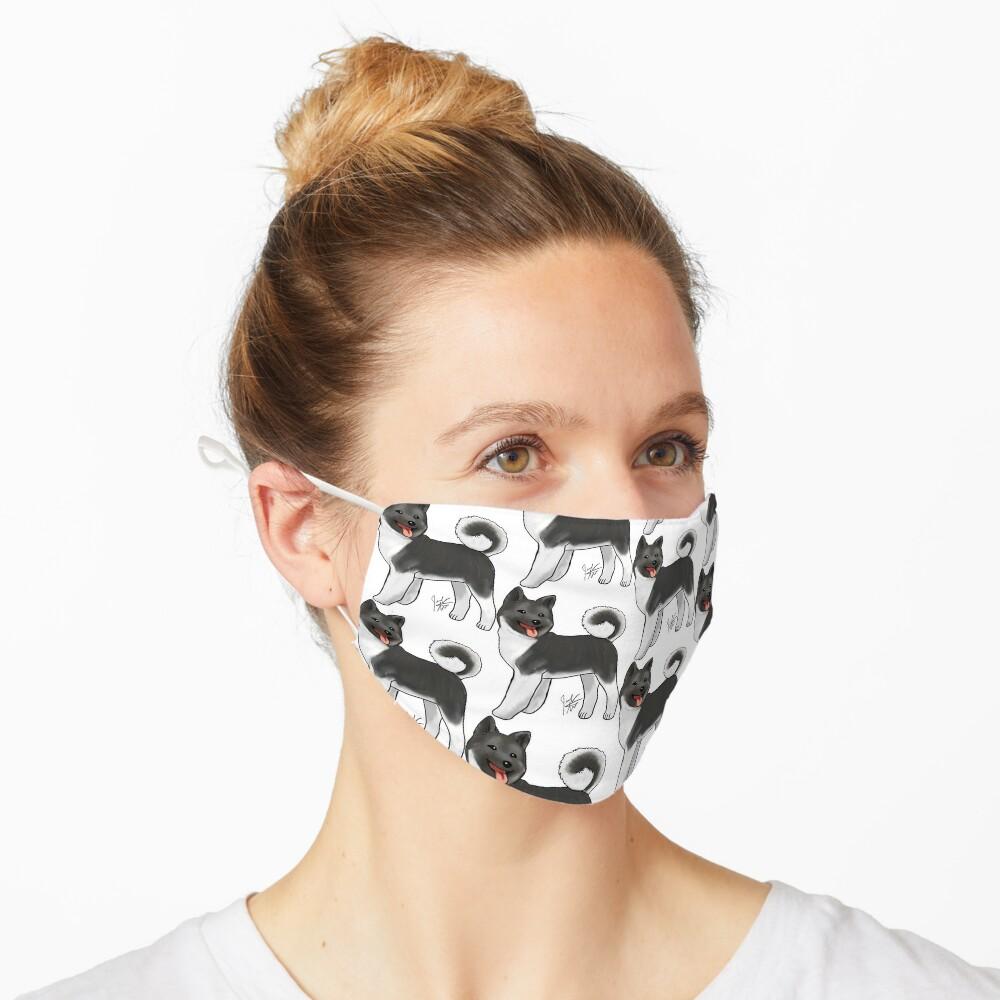 Akita - Black and White Mask
