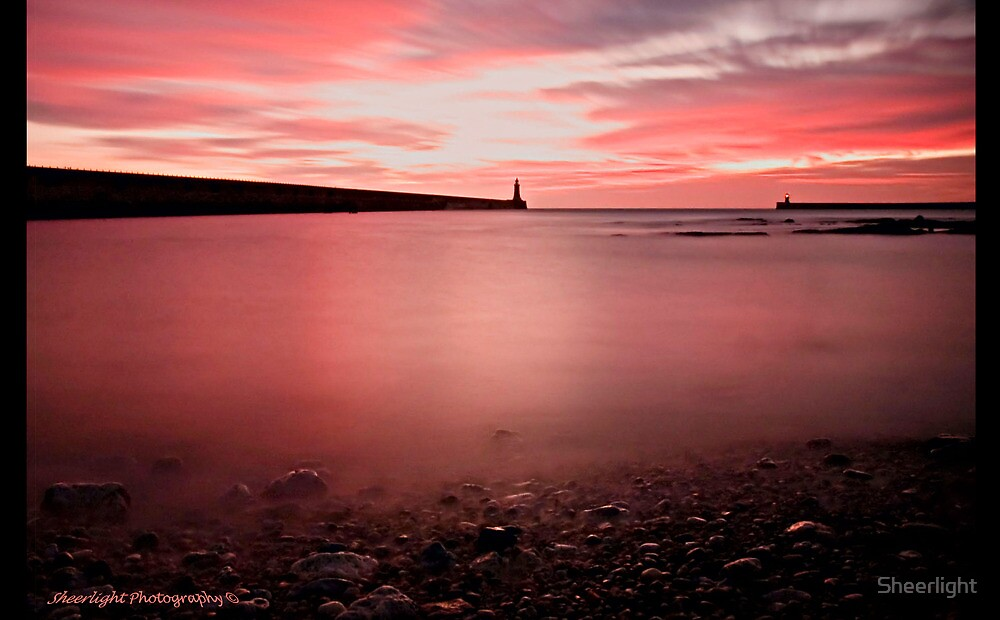 Marking Time at Tynemouth harbour by Sheerlight