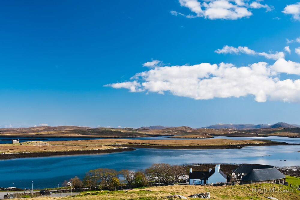 Landscape, Callanish standing stones visitor centre and Loch Ceann Huabhig by Hugh McKean