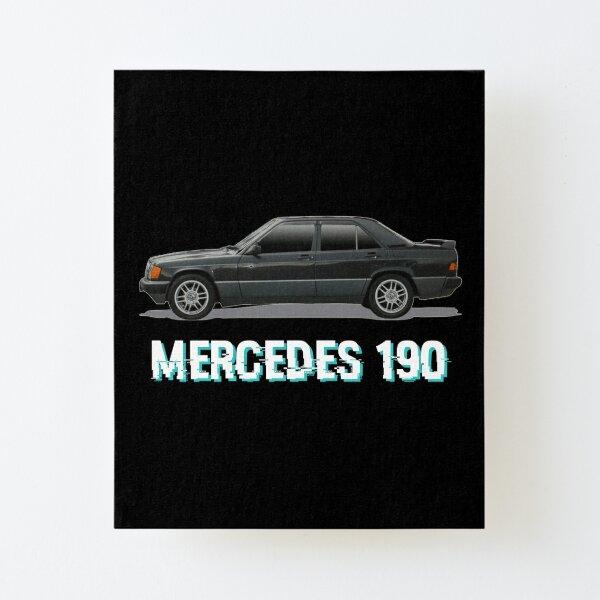 - MERCEDES 190 - Aufgezogener Druck auf Leinwandkarton