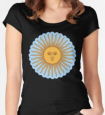 Cool Sun >Cute design< Women's Fitted Scoop T-Shirt
