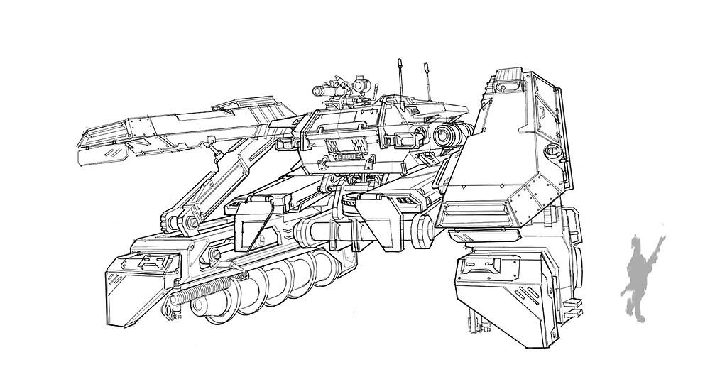 Drill Tank concept by Takumer Homma
