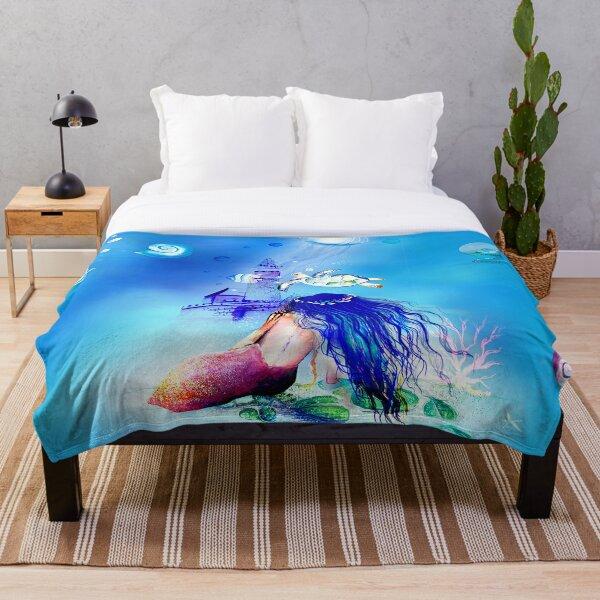 Mermaidluminesce  Throw Blanket