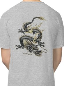 Lucky Chinese Dragon In Grey and Gold Classic T-Shirt
