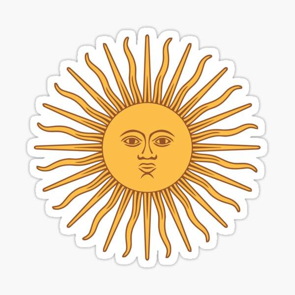 Lustige fantastische Sonne Sticker