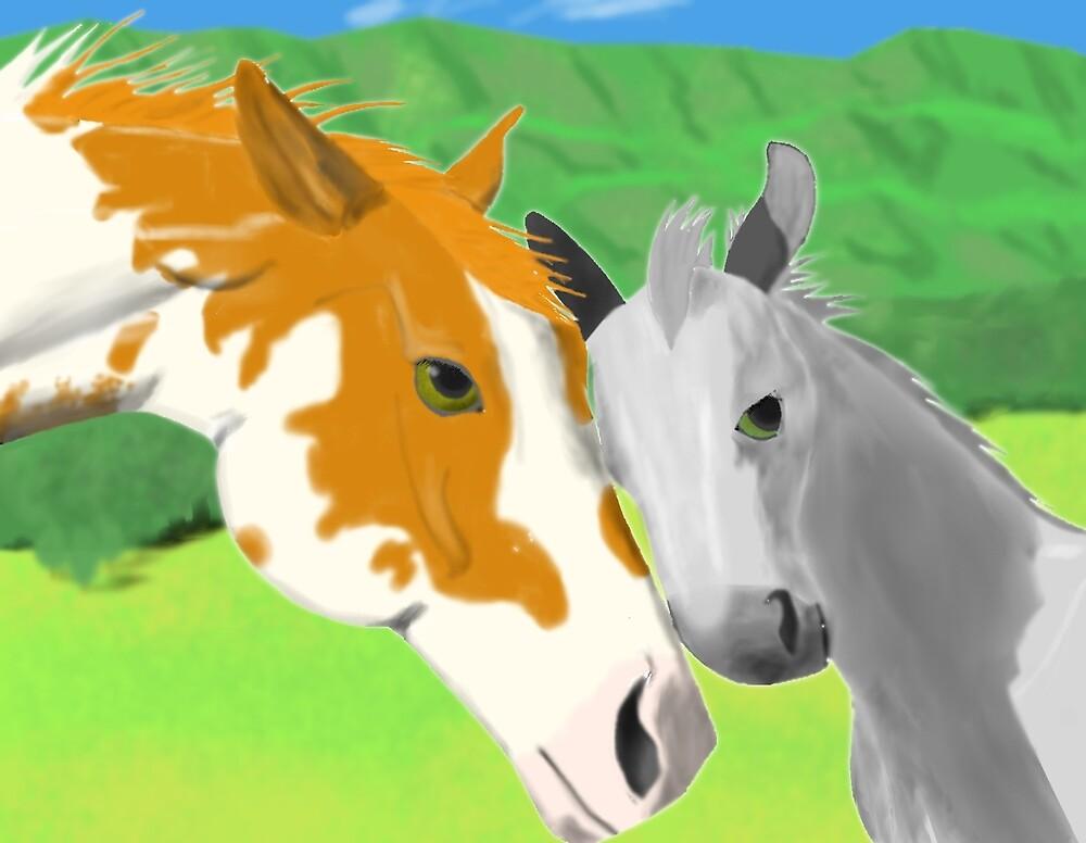 Horses by tikaaniwicker
