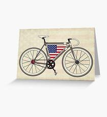 Love Bike, Love America Greeting Card