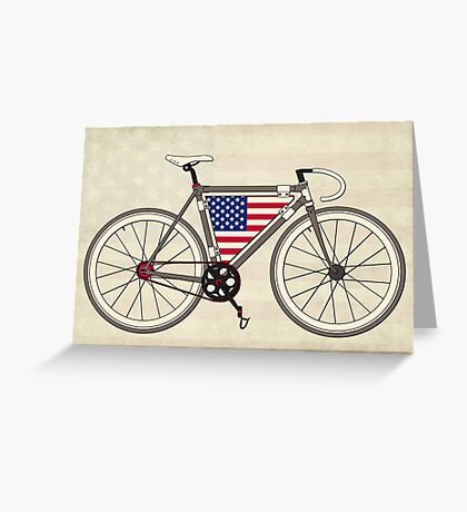 Love Bike, Love America Greeting Card