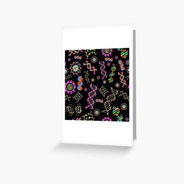 DNA Molecules Medley Greeting Card