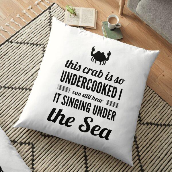 undercooked crab Floor Pillow