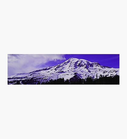 Purple Mt. Rainier Photographic Print
