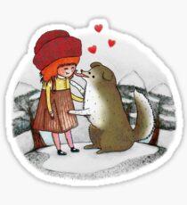 Red Riding Hat Sticker