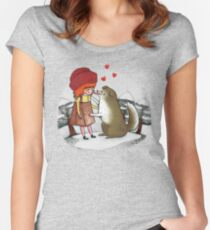 Red Riding Hat Women's Fitted Scoop T-Shirt