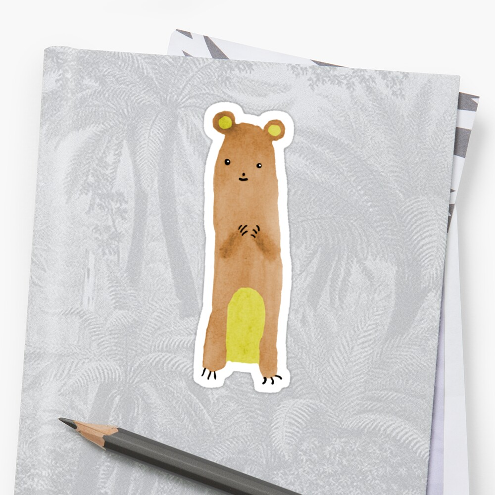Slewfoot the Grizzly Cub Sticker