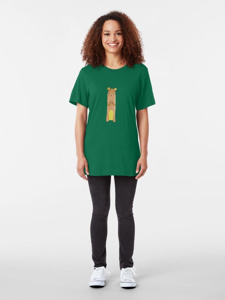 Alternative Ansicht von Slewfoot the Grizzly Cub Slim Fit T-Shirt