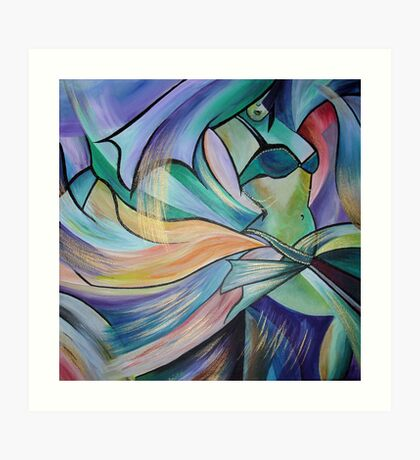 Middle Eastern Belly Dance With Pastel Veils Art Print