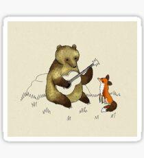 Bear & Fox Sticker