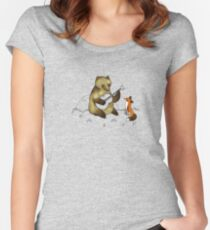 Bear & Fox Women's Fitted Scoop T-Shirt