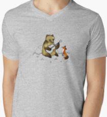 Bear & Fox Men's V-Neck T-Shirt