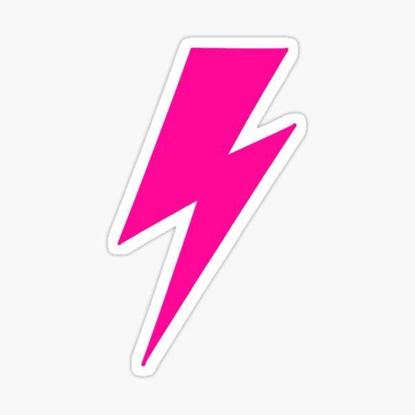 Fuchsia pink lightning bolt Sticker